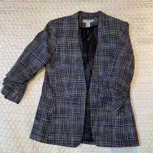 H&M Plaid Tweed Blazer